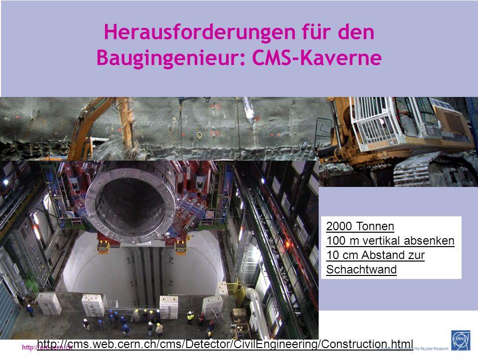 Herausforderungen für den Baugingenieur: CMS-Kaverne