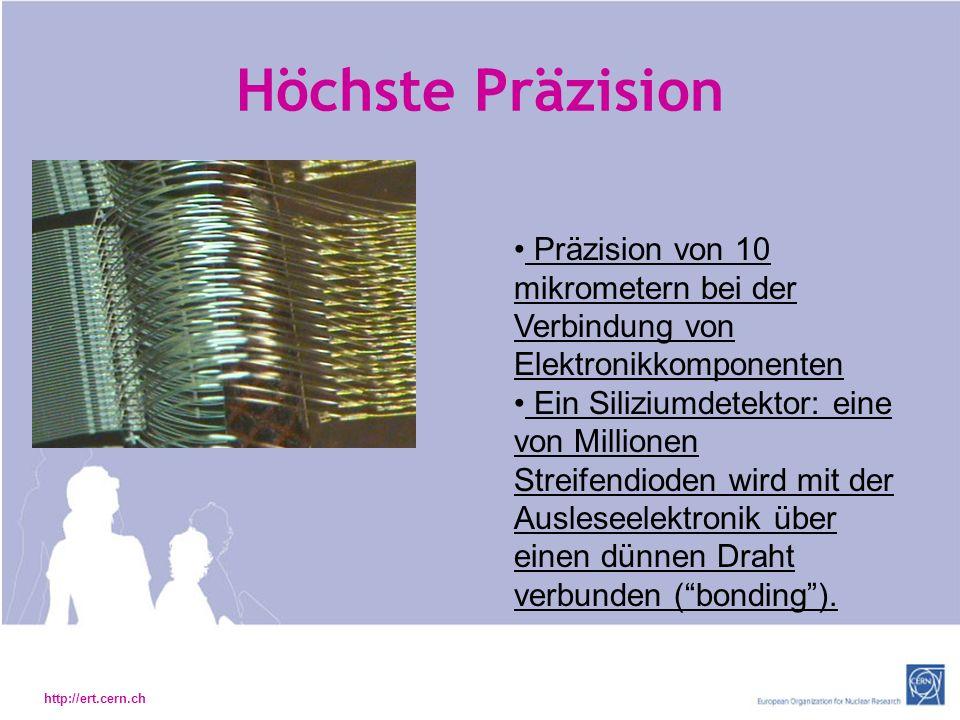 Höchste Präzision Präzision von 10 mikrometern bei der Verbindung von Elektronikkomponenten.