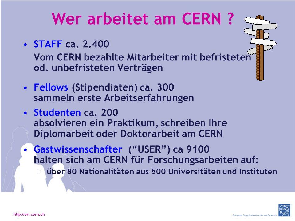 Wer arbeitet am CERN STAFF ca. 2.400