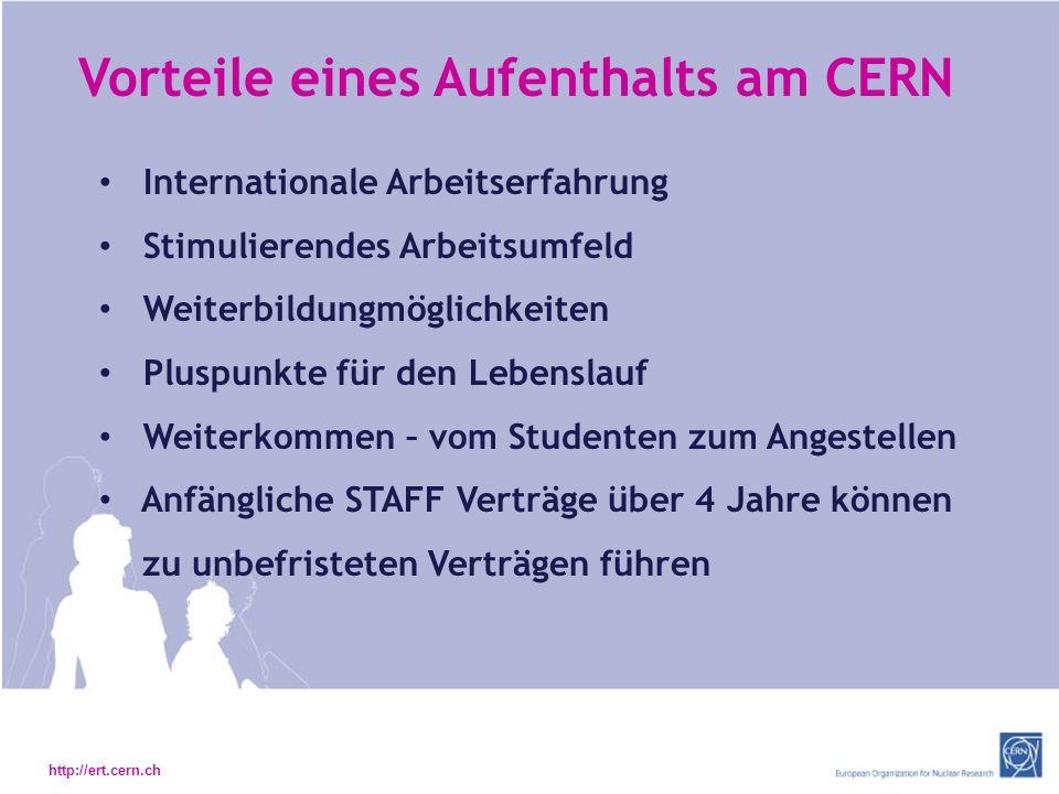 Vorteile eines Aufenthalts am CERN