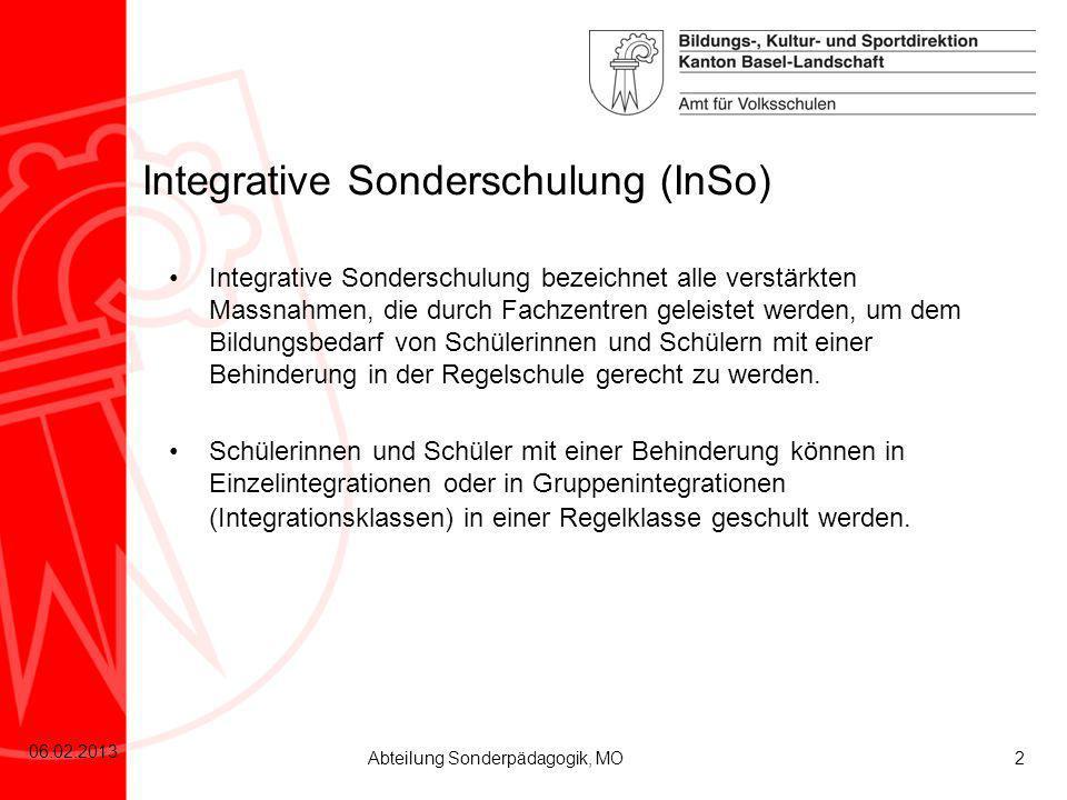 Integrative Sonderschulung (InSo)
