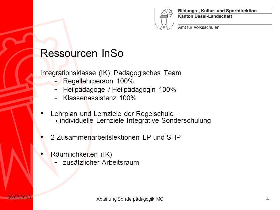 Ressourcen InSo Integrationsklasse (IK): Pädagogisches Team