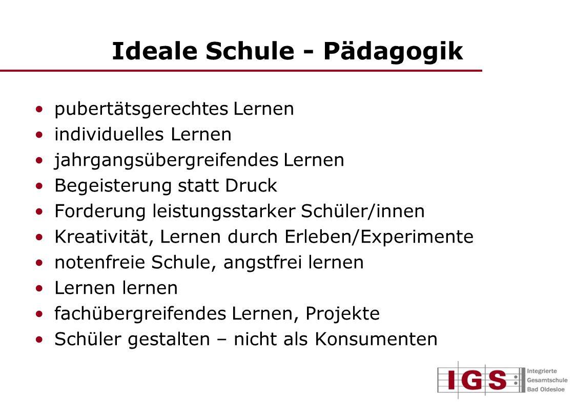 Ideale Schule - Pädagogik