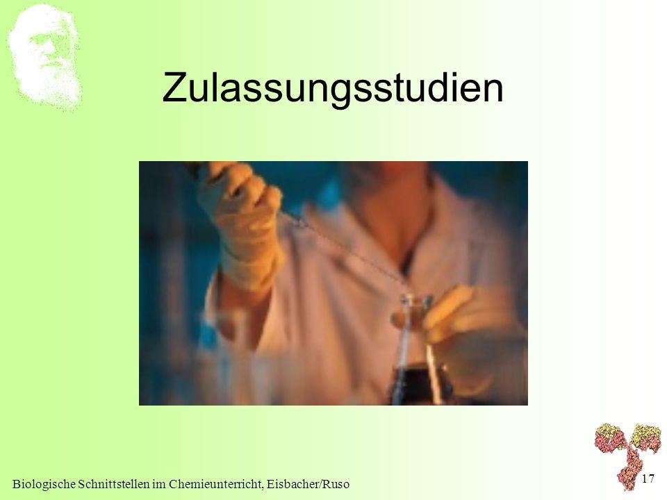 Zulassungsstudien Biologische Schnittstellen im Chemieunterricht, Eisbacher/Ruso