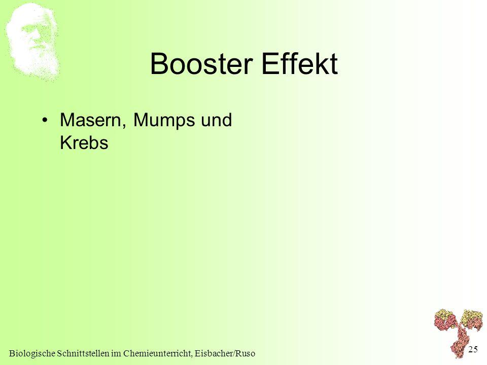 Booster Effekt Masern, Mumps und Krebs