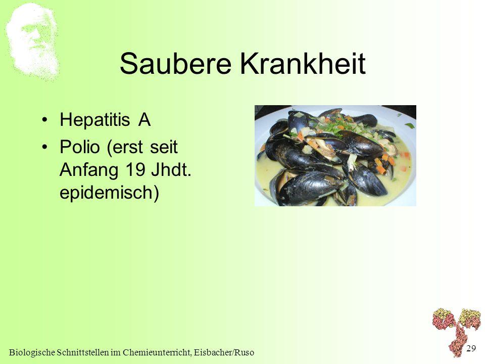 Saubere Krankheit Hepatitis A