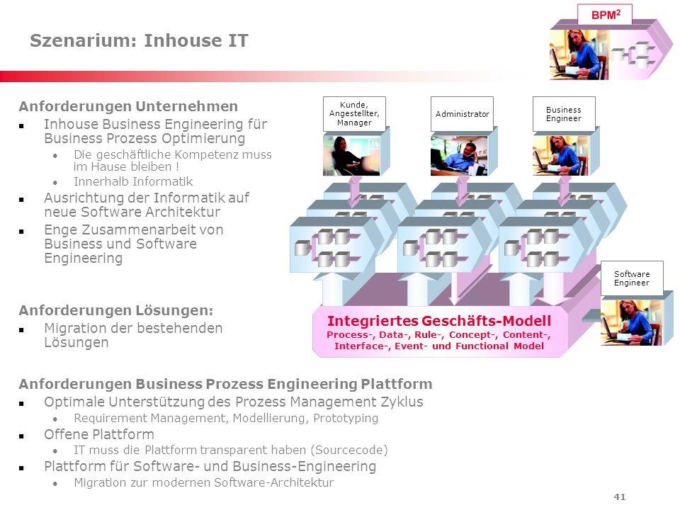 Szenarium: Inhouse IT Anforderungen Unternehmen