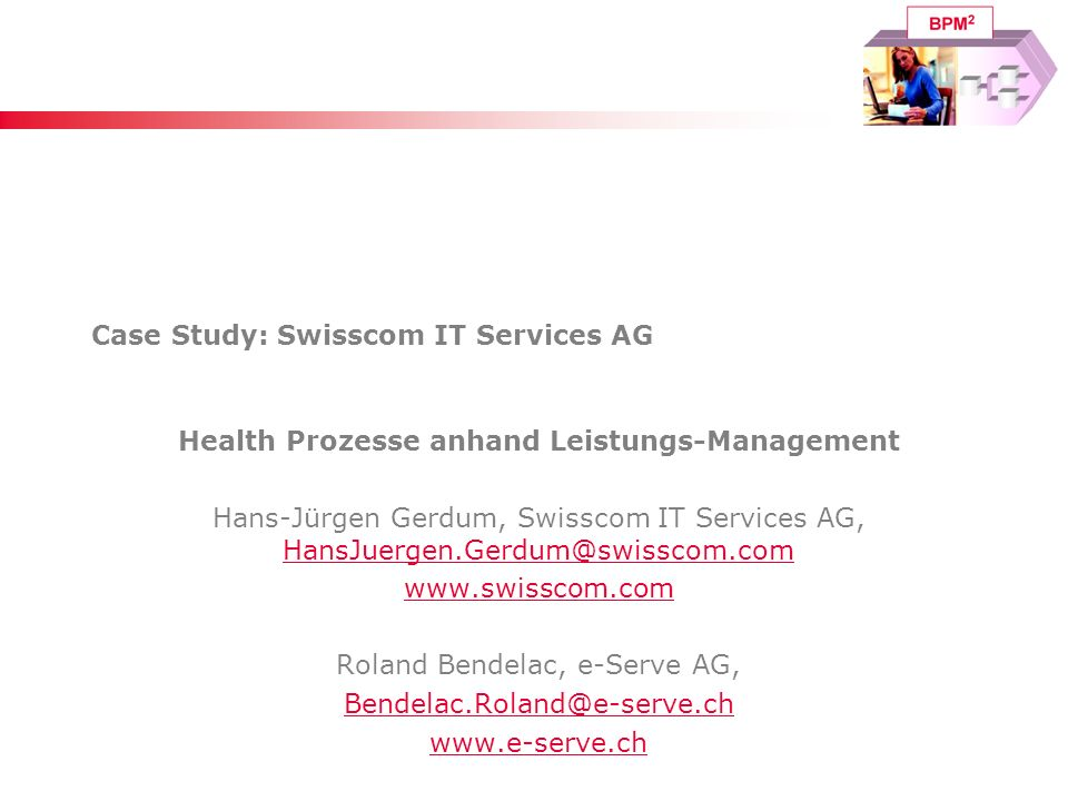 Case Study: Swisscom IT Services AG