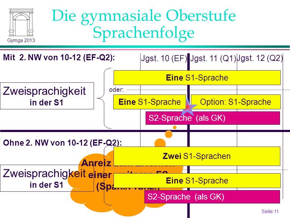Anreiz zum Erlernen einer weiteren FS (Span./Franz.)