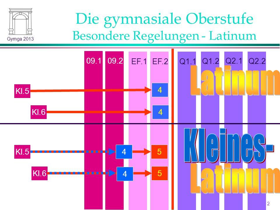Die gymnasiale Oberstufe Besondere Regelungen - Latinum