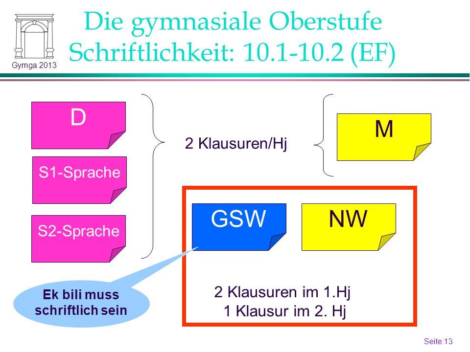 Die gymnasiale Oberstufe Schriftlichkeit: 10.1-10.2 (EF)