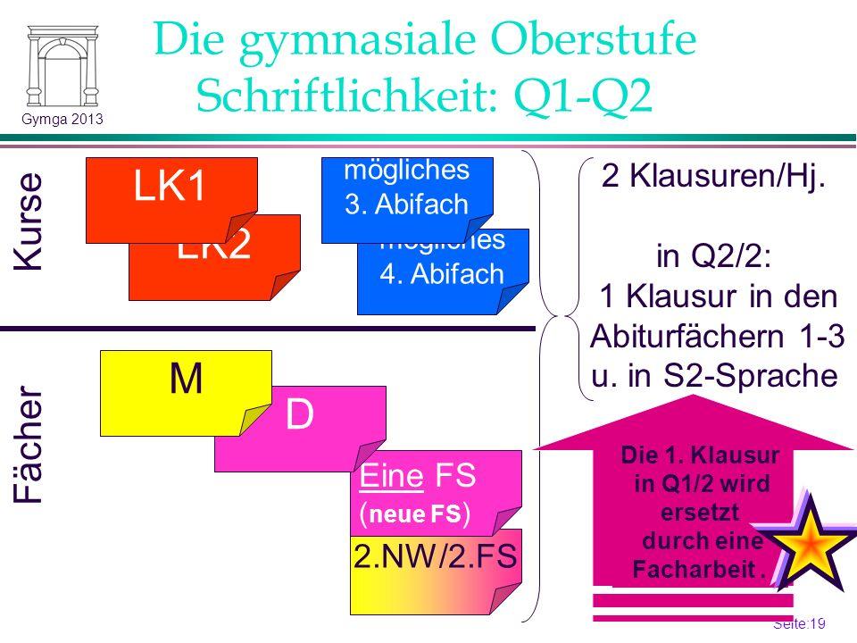 Die gymnasiale Oberstufe Schriftlichkeit: Q1-Q2