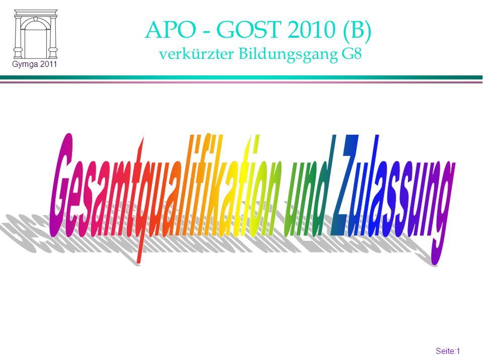 APO - GOST 2010 (B) verkürzter Bildungsgang G8