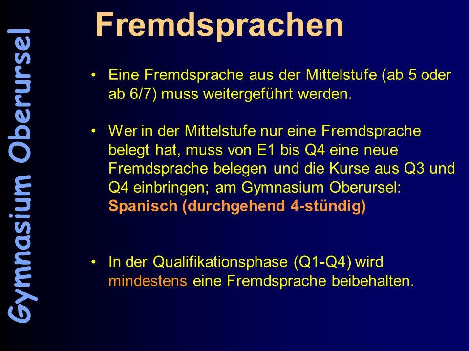 Fremdsprachen Gymnasium Oberursel