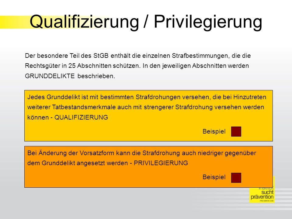 Qualifizierung / Privilegierung