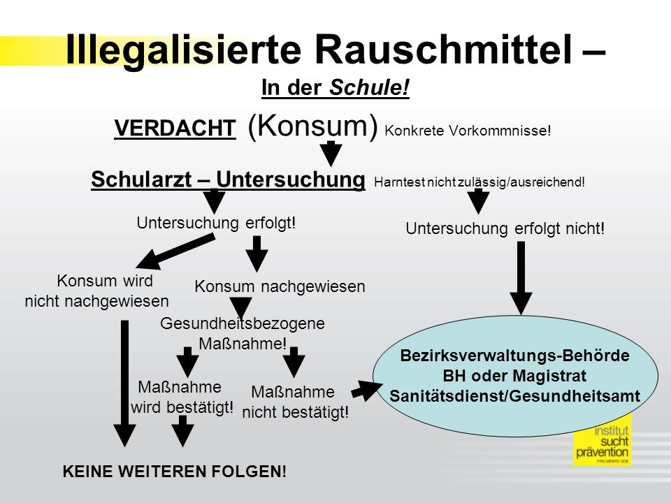 Illegalisierte Rauschmittel – In der Schule!