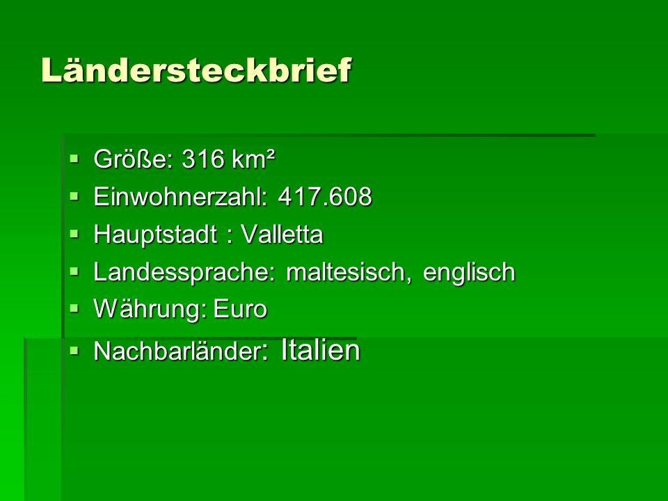 Ländersteckbrief Größe: 316 km² Einwohnerzahl: 417.608
