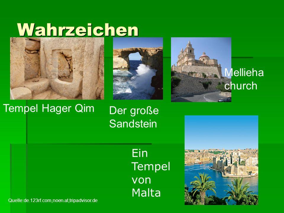 Wahrzeichen Mellieha church Tempel Hager Qim Der große Sandstein