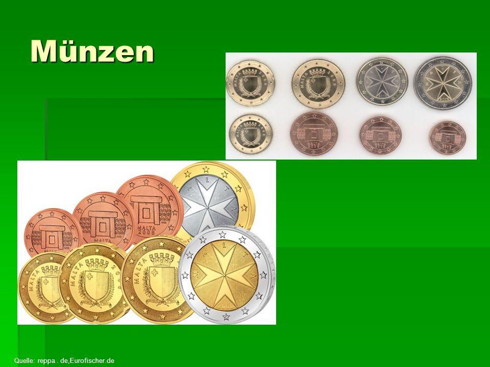 Münzen Quelle: reppa . de,Eurofischer.de