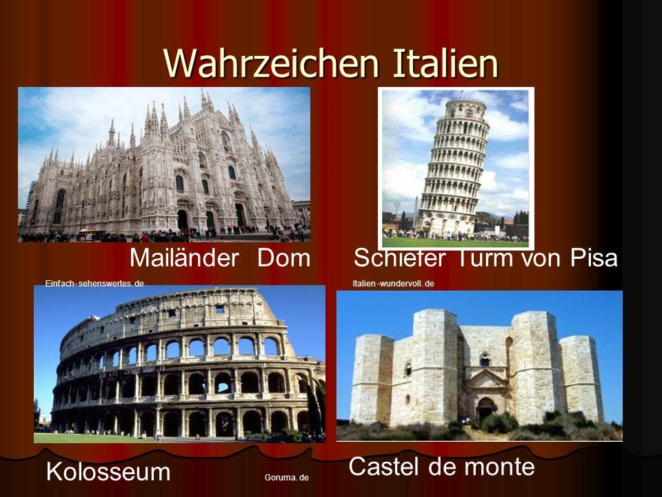 Wahrzeichen Italien Mailänder Dom Schiefer Turm von Pisa