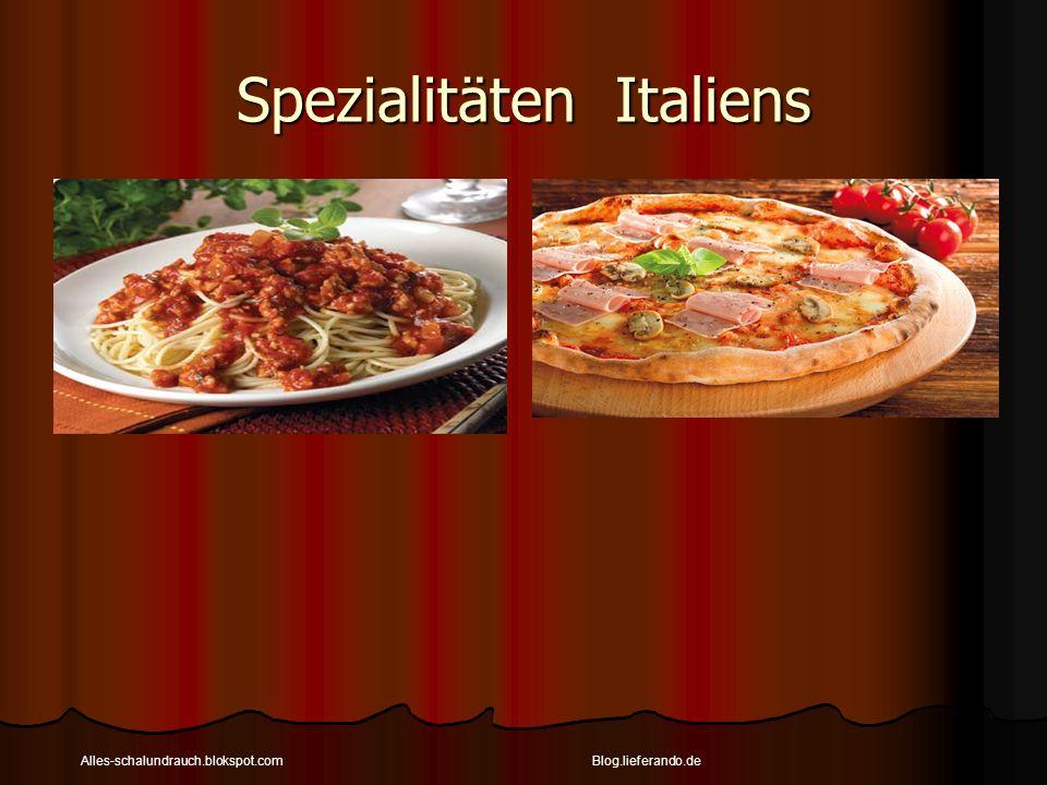Spezialitäten Italiens