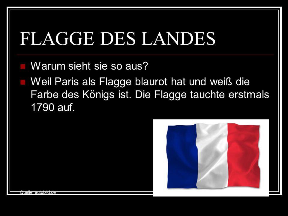 FLAGGE DES LANDES Warum sieht sie so aus