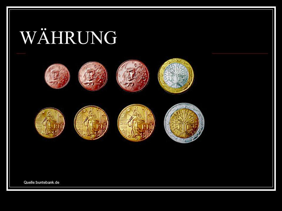WÄHRUNG Quelle:buntebank.de