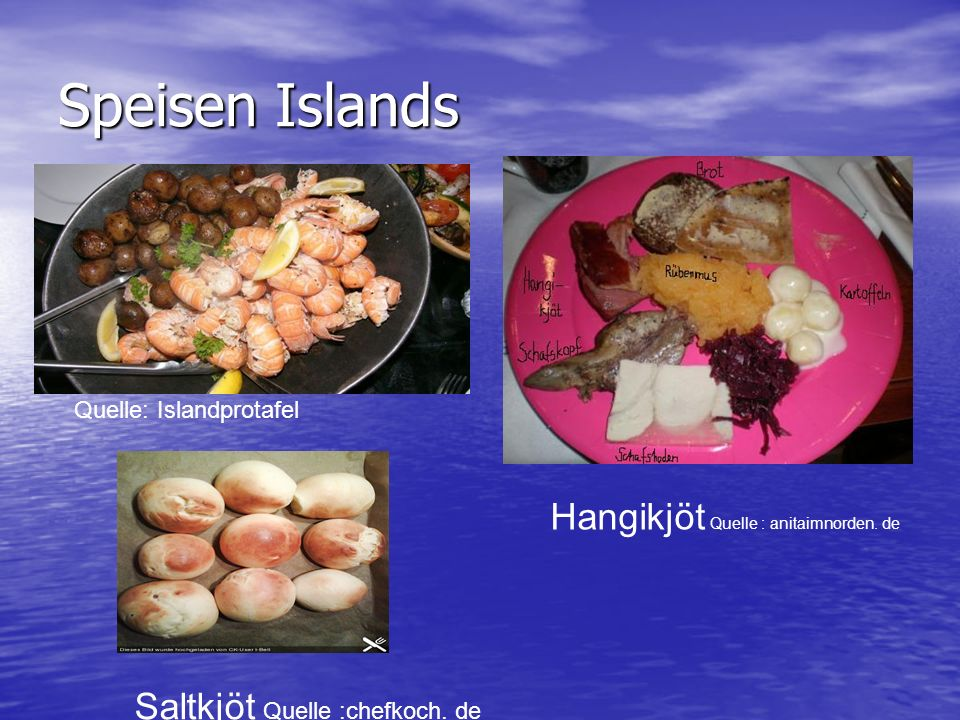 Speisen Islands Hangikjöt Quelle : anitaimnorden. de