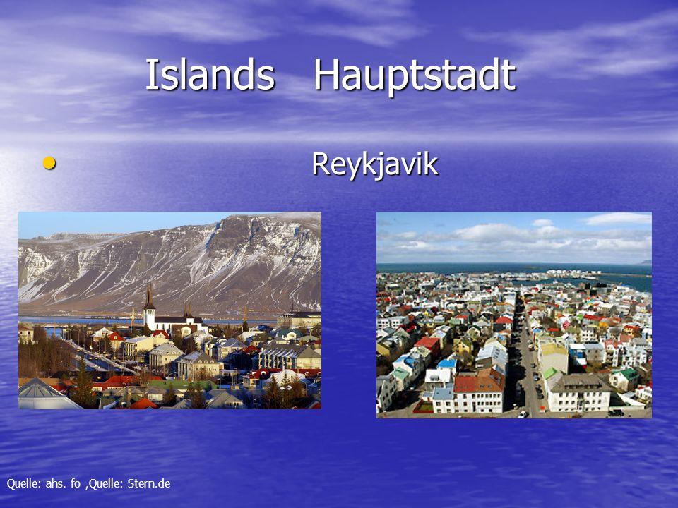 Islands Hauptstadt Reykjavik Quelle: ahs. fo ,Quelle: Stern.de