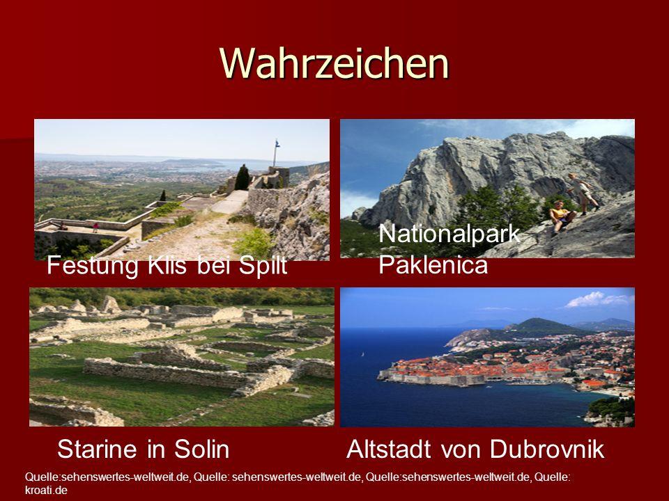 Wahrzeichen Nationalpark Paklenica Festung Klis bei Spilt