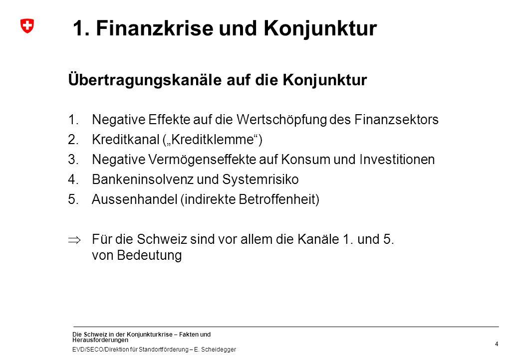 1. Finanzkrise und Konjunktur