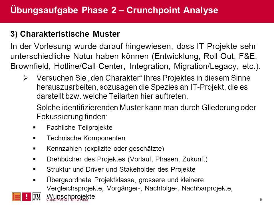 Übungsaufgabe Phase 2 – Crunchpoint Analyse