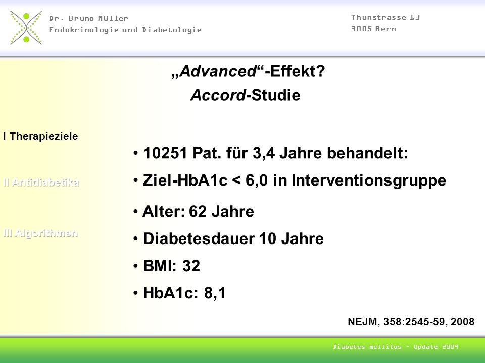 Diabetes mellitus – Update 2009