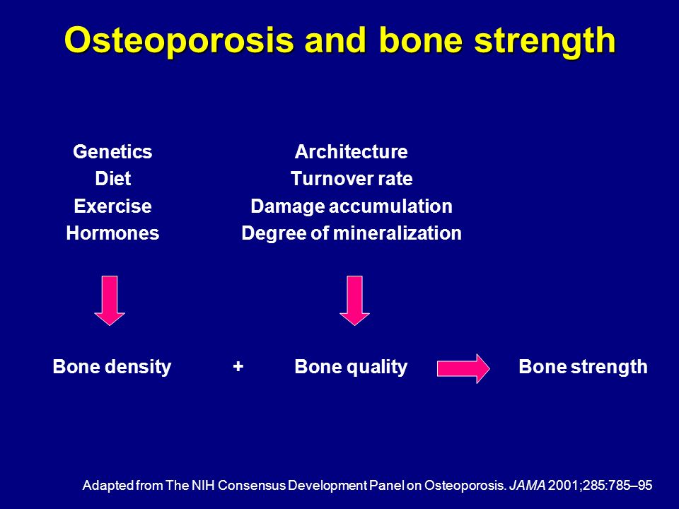 Osteoporosis and bone strength