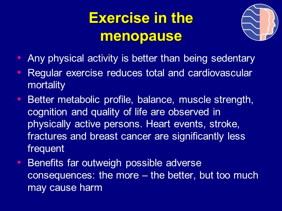 Exercise in the menopause