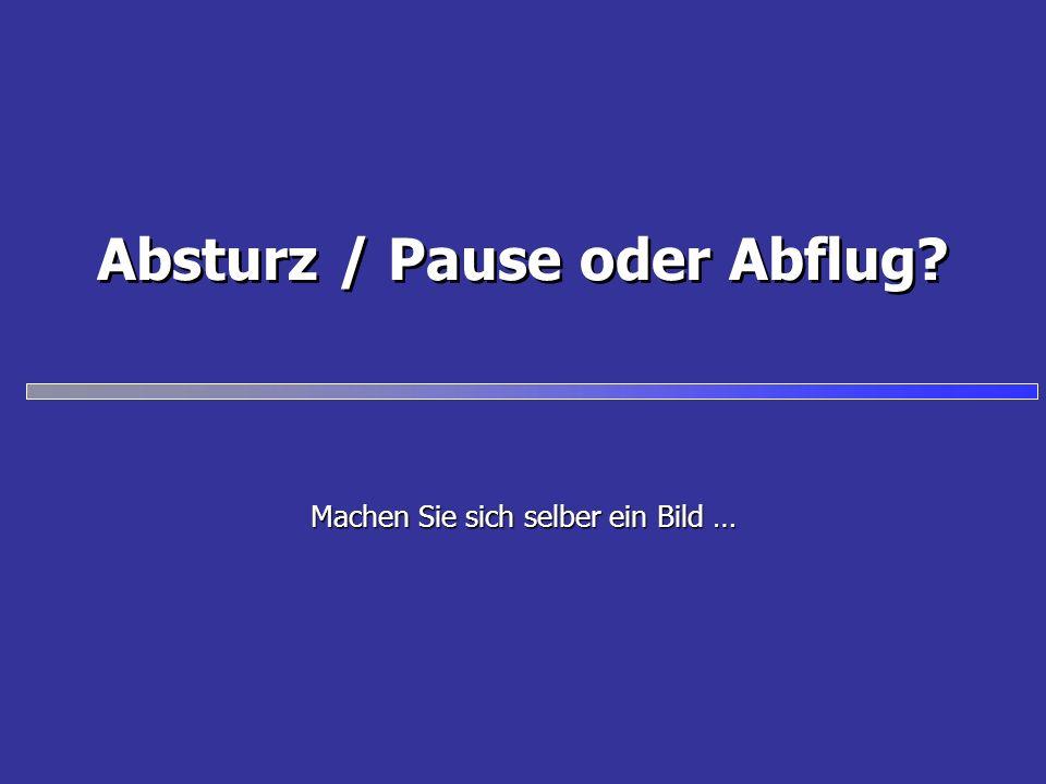 Absturz / Pause oder Abflug