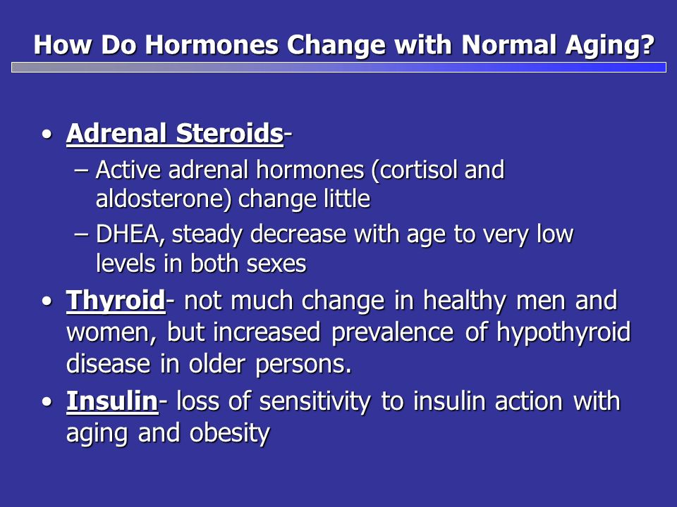How Do Hormones Change with Normal Aging