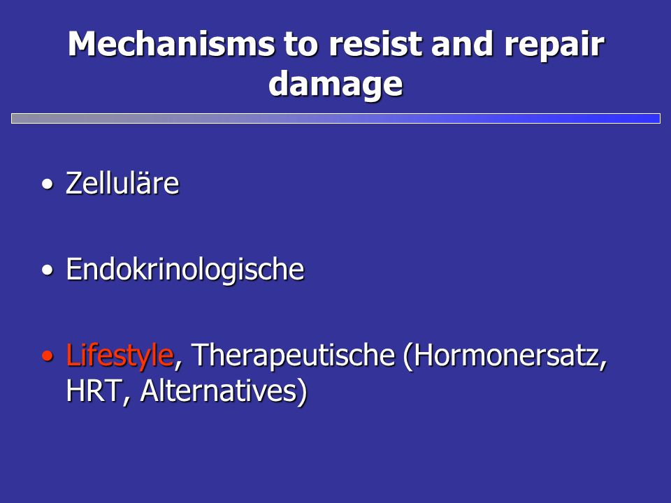 Mechanisms to resist and repair damage