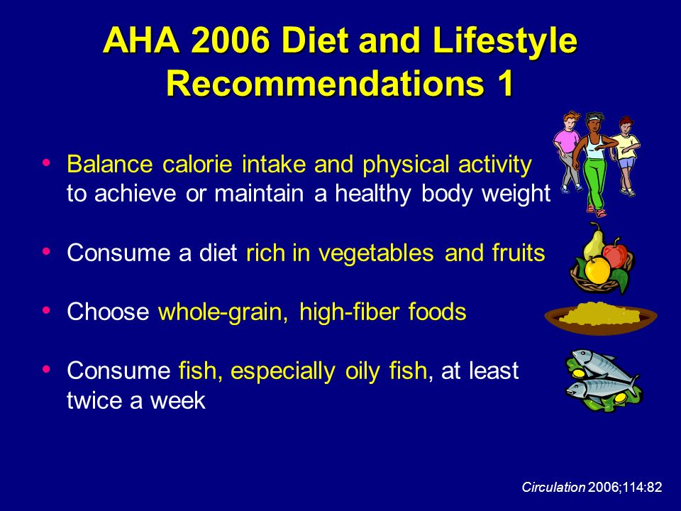 AHA 2006 Diet and Lifestyle Recommendations 1