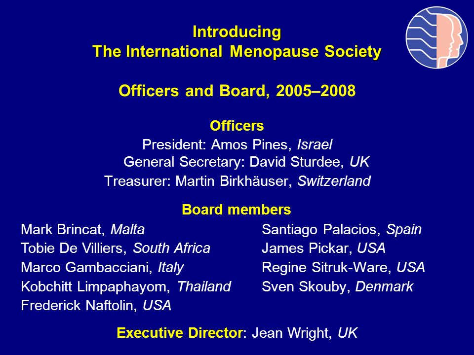 Introducing The International Menopause Society Officers and Board, 2005–2008