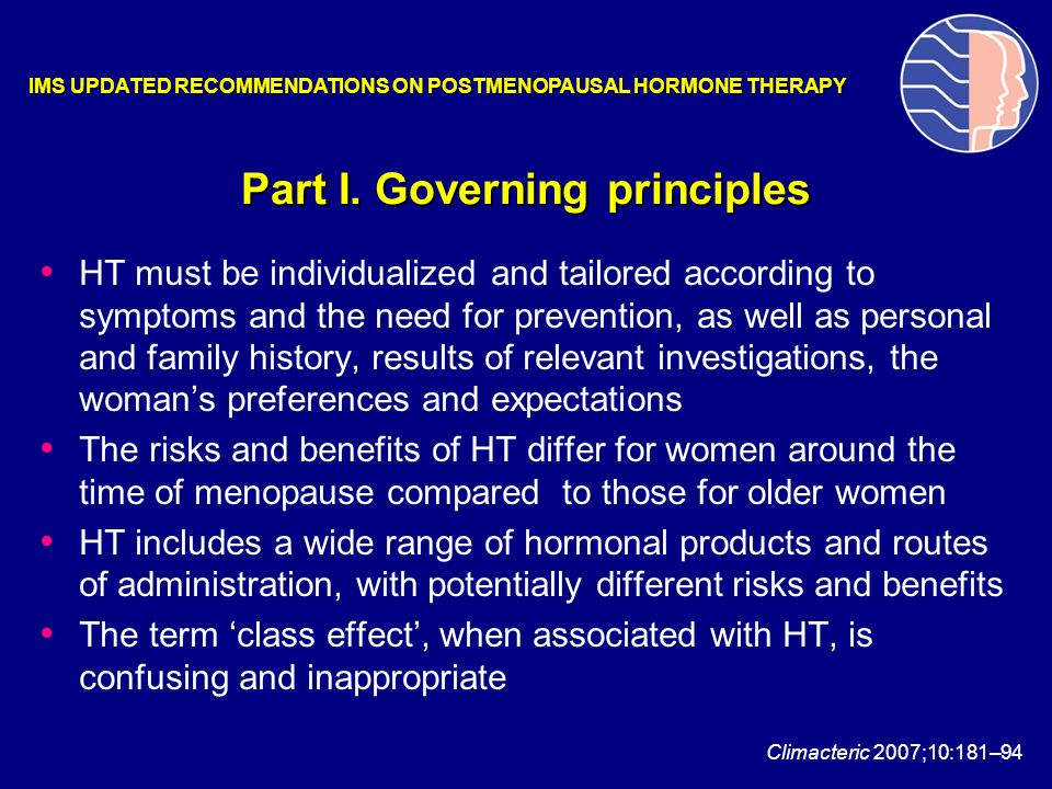 Part I. Governing principles