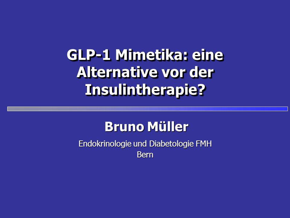 GLP-1 Mimetika: eine Alternative vor der Insulintherapie