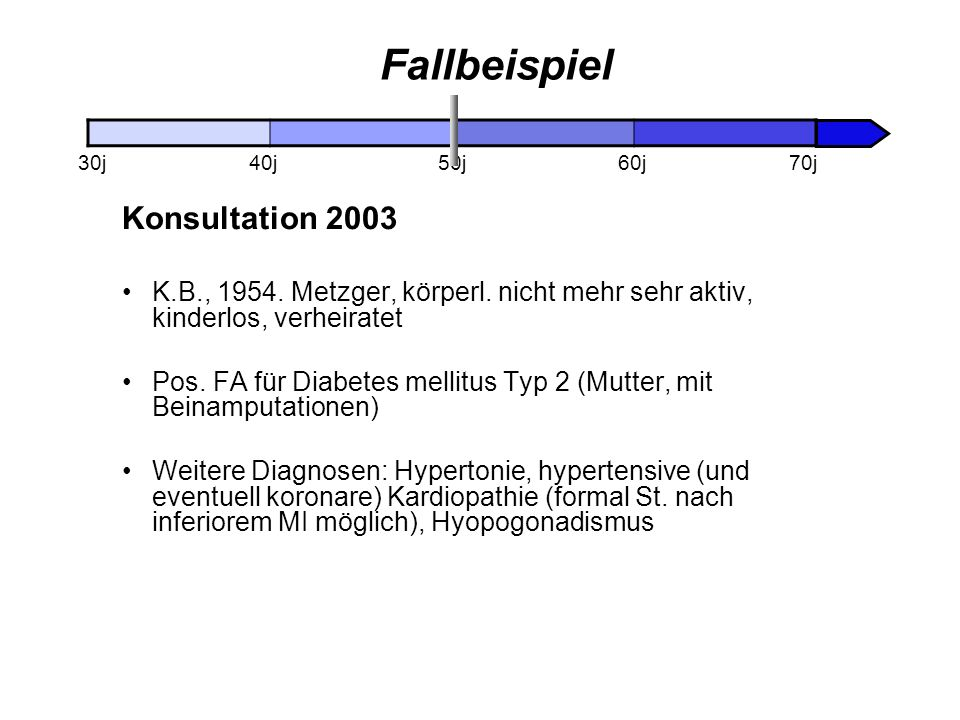 Fallbeispiel Konsultation 2003