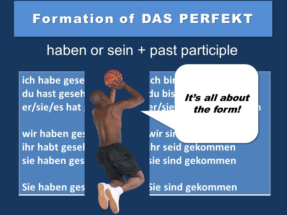 Formation of DAS PERFEKT