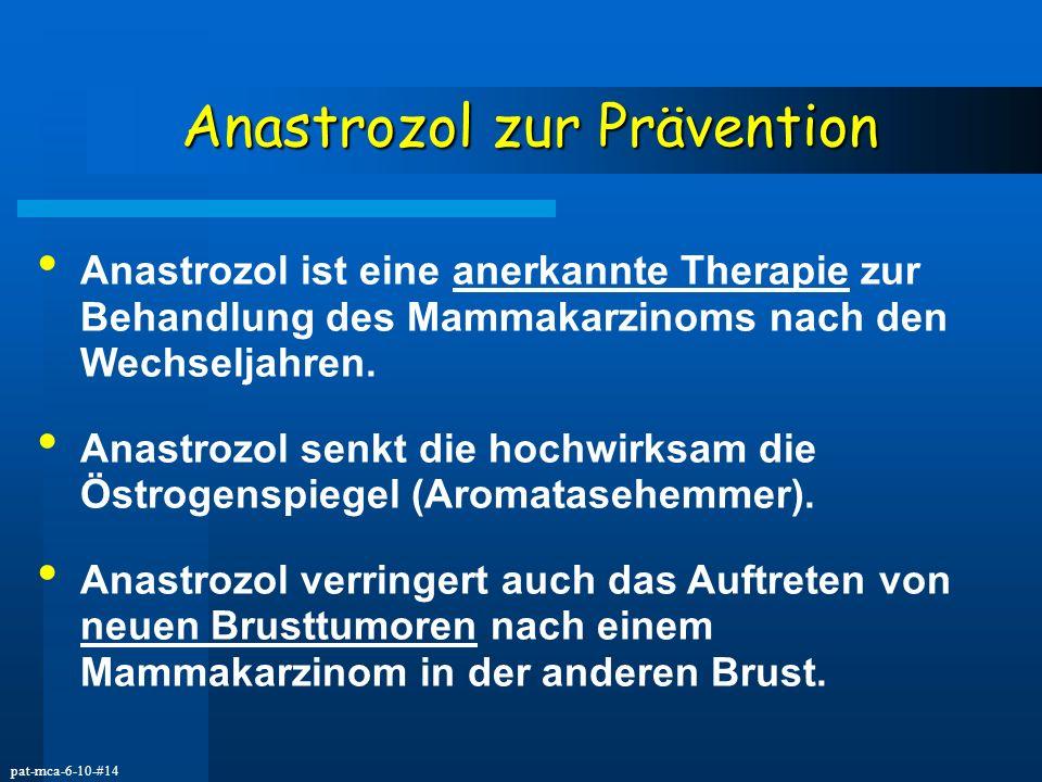 Anastrozol zur Prävention