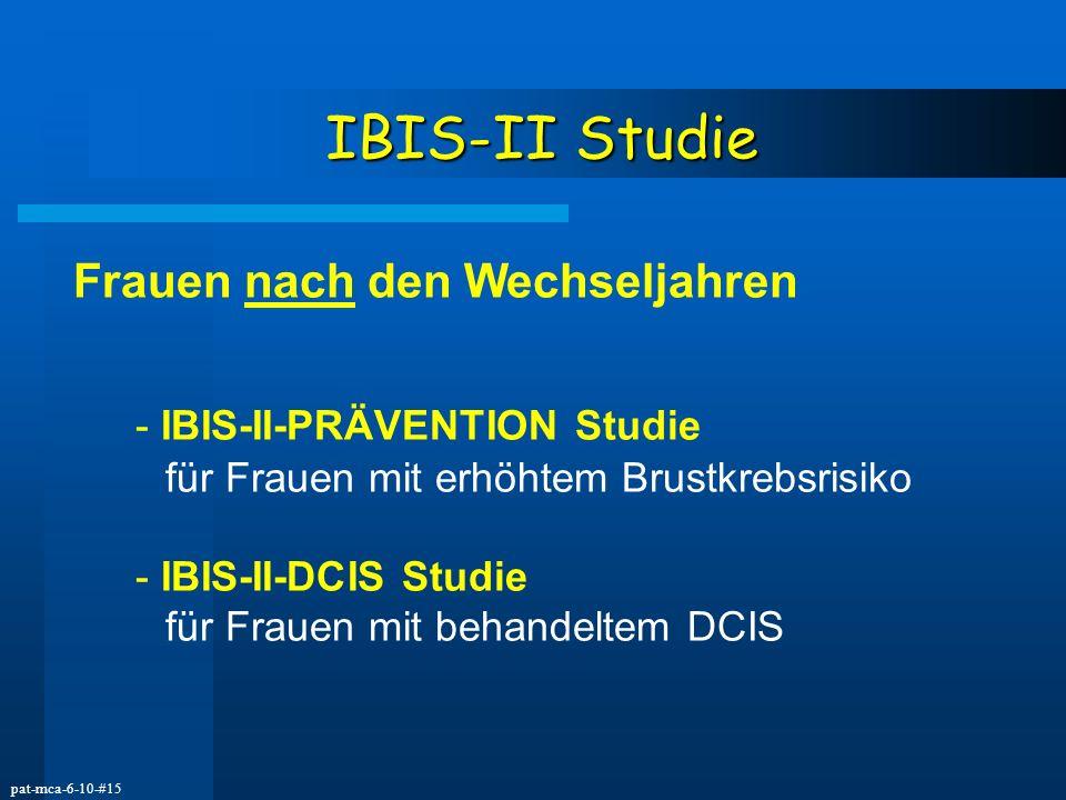 IBIS-II Studie Frauen nach den Wechseljahren