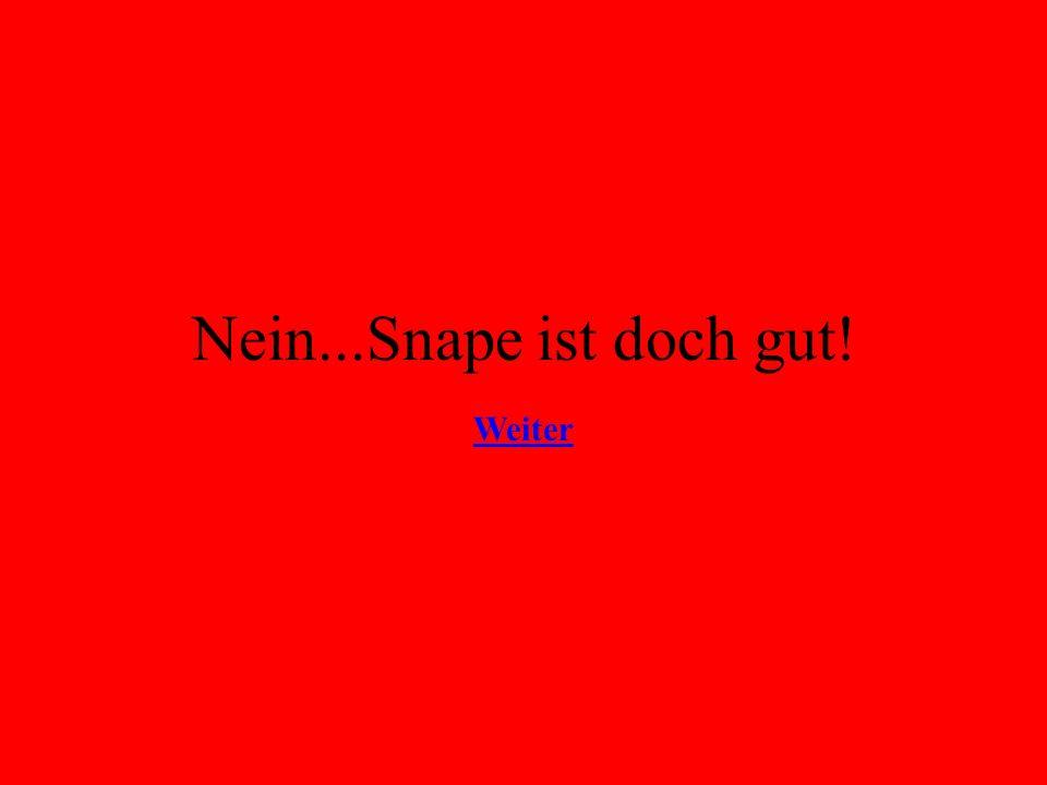 Nein...Snape ist doch gut! Weiter