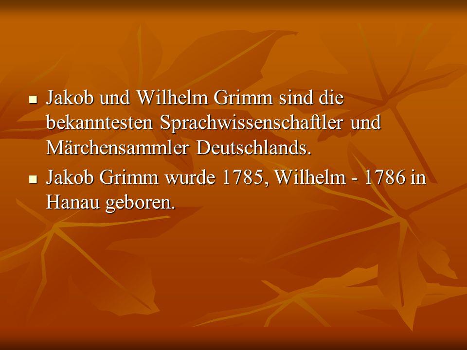Jakob und Wilhelm Grimm sind die bekanntesten Sprachwissenschaftler und Märchensammler Deutschlands.