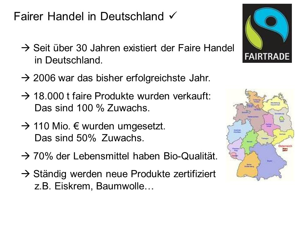 Fairer Handel in Deutschland 