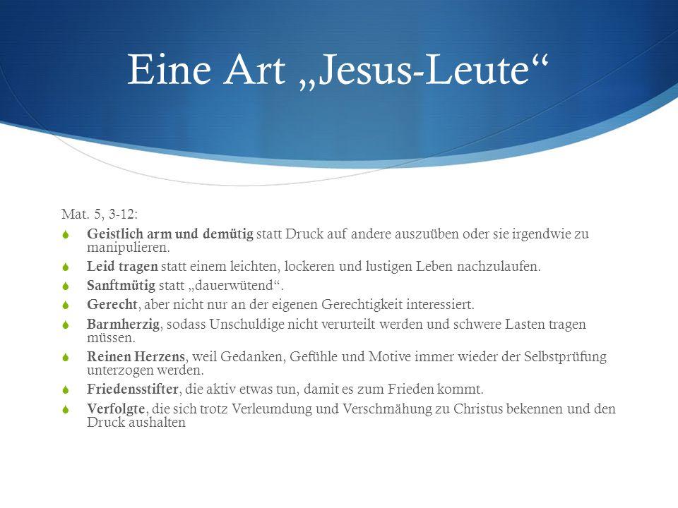"""Eine Art """"Jesus-Leute"""